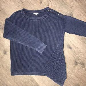 Maurice's Asymmetrical Dark Blue Sweater